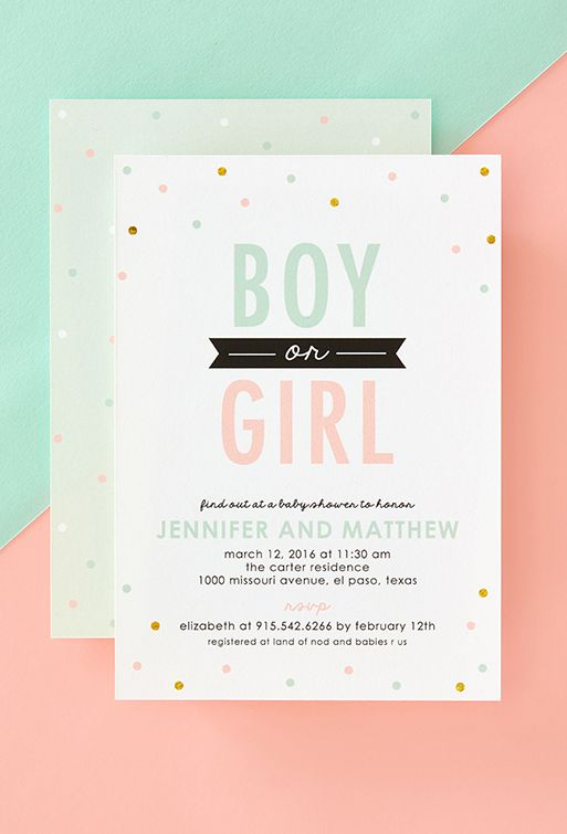 The Invitation Card Is The First Glimpse As To What The Baby Shower Will  End Up Being Like, So Choose It Wisely. Tiny Prints Is There To Help You  With This ...