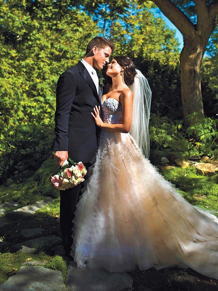Channing Tatum and wife Jenna Dewan at their wedding